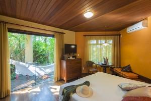 Pousada das Palmeiras Lagoa da Conceicao Florianopolis Suite jardim vista do quarto